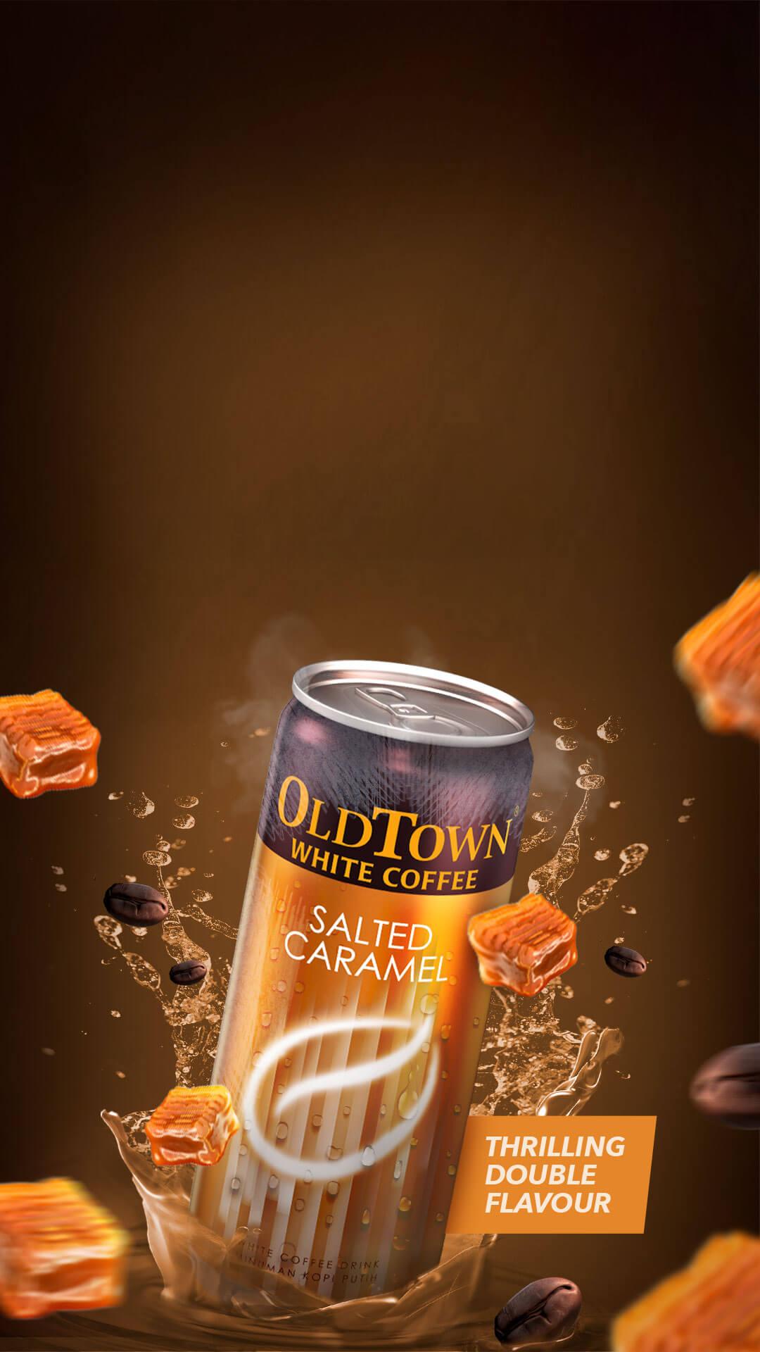 Mobile version caramel flavor slider image