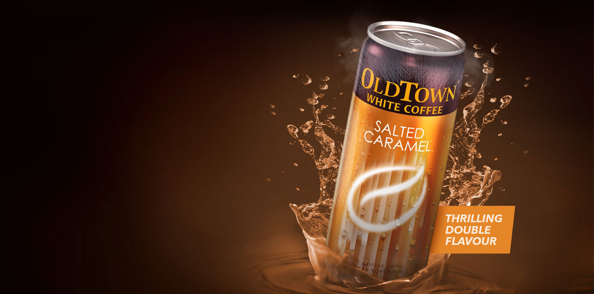 Desktop version caramel flavor slider image